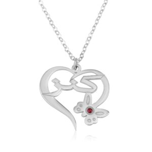 Arabic Name Necklace With Butterfly And Birthstone - Beleco Jewelry