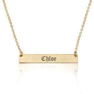 Customize Bar Necklace - Beleco Jewelry