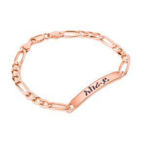 Custom Amharic Men's Name Bracelet - Beleco Jewelry