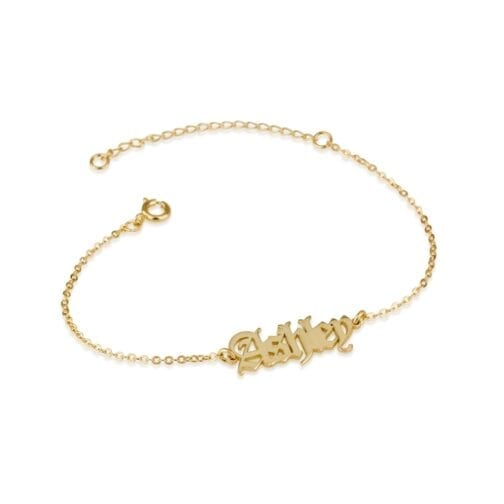 Custom Ankle Name Bracelet - Beleco Jewelry