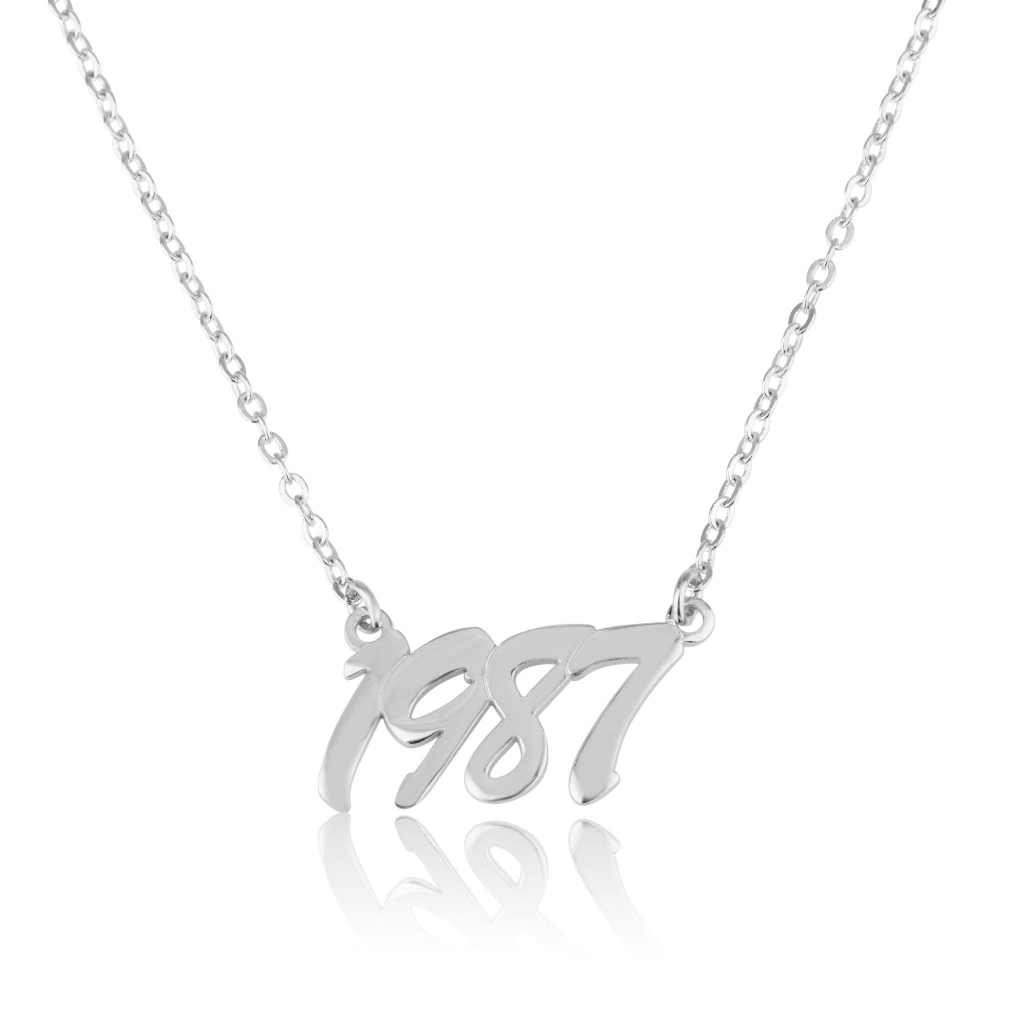 Custom Birth Year Necklace - Beleco Jewelry