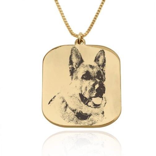 Custom Dog Portrait Necklace - Beleco Jewelry