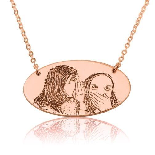 Custom Engraved Photo Necklace - Beleco Jewelry