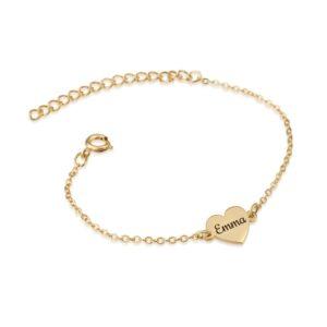 Custom Heart Name Bracelet - Beleco Jewelry