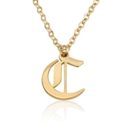 Custom Initial Necklace - Beleco Jewelry