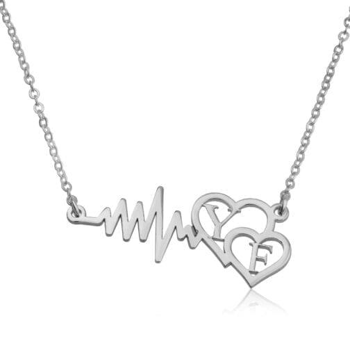 Custom Initials Necklace - Beleco Jewelry
