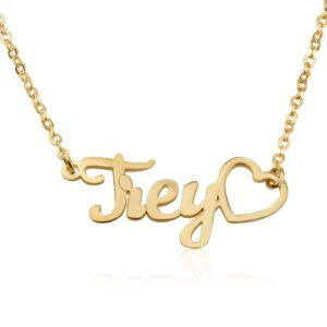 Custom Name Necklace With Heart Symbol - Beleco Jewelry