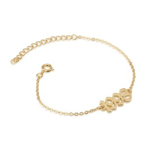 Custom Old English Bracelet - Beleco Jewelry