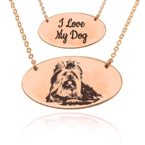 Custom Pet Engraved Photo Necklace - Beleco Jewelry