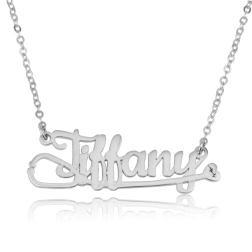 Doctor Stethoscope Necklace With Name - Beleco Jewelry