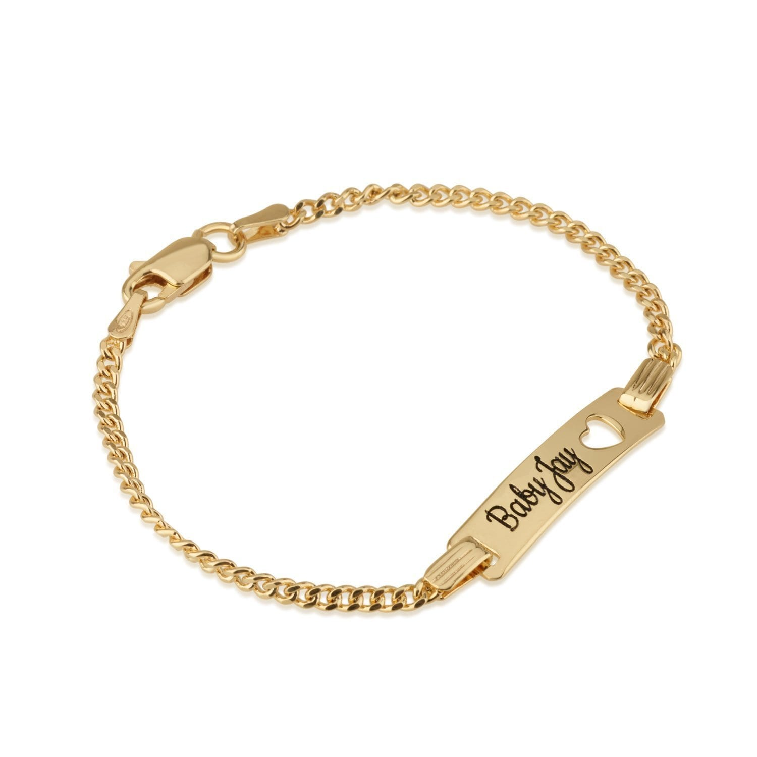Engraved Baby Name Bracelet - Beleco Jewelry