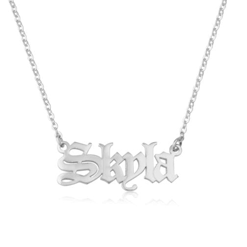 Gothic Name Necklace - Beleco Jewelry