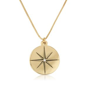 North Star Necklace With Birthstone - Beleco Jewelry
