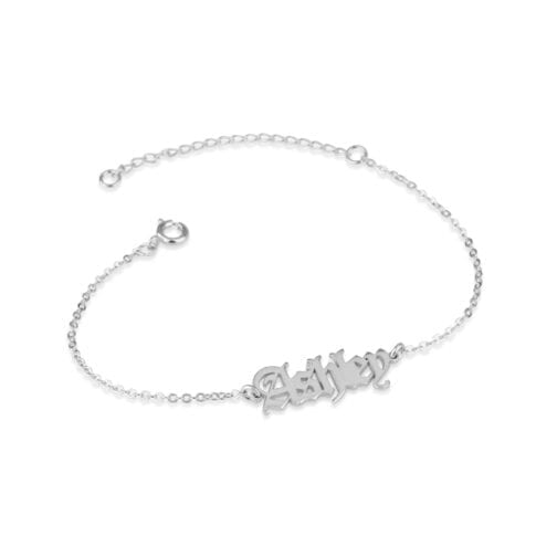 Old English Name Bracelet - Beleco Jewelry