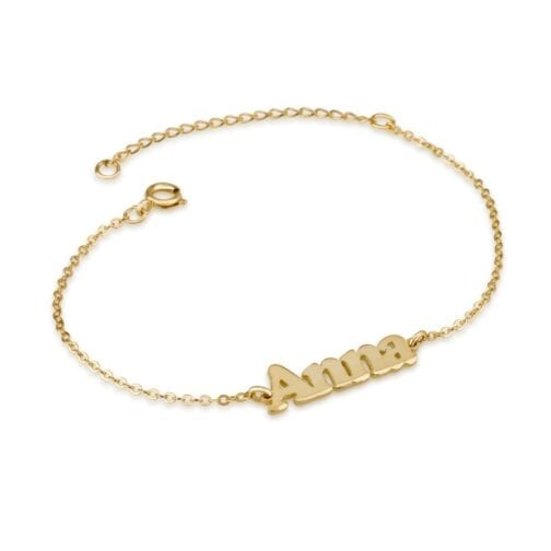 Personalized Ankle Name Bracelet - Beleco Jewelry