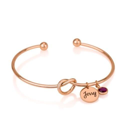 Personalized Bangle Charm Bracelet - Beleco Jewelry