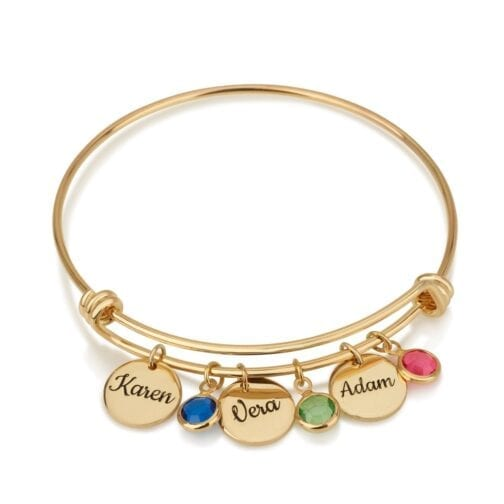 Personalized Gift For Mom Charm Bracelet - Beleco Jewelry