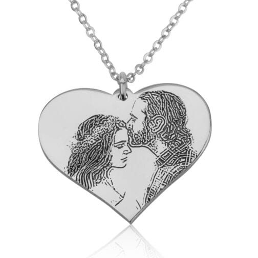 Personalized Heart Photo Necklace - Beleco Jewelry