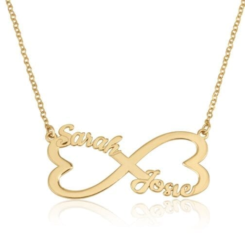 Personalized Infinity Necklace With Two Names - Beleco Jewelry