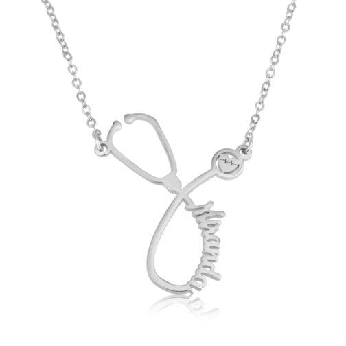 Personalized Stethoscope Necklace - Beleco Jewelry