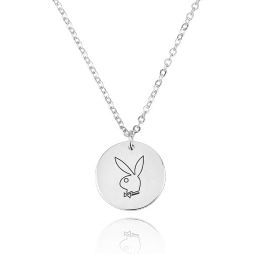 Playboy Engraving Disc Necklace - Beleco Jewelry