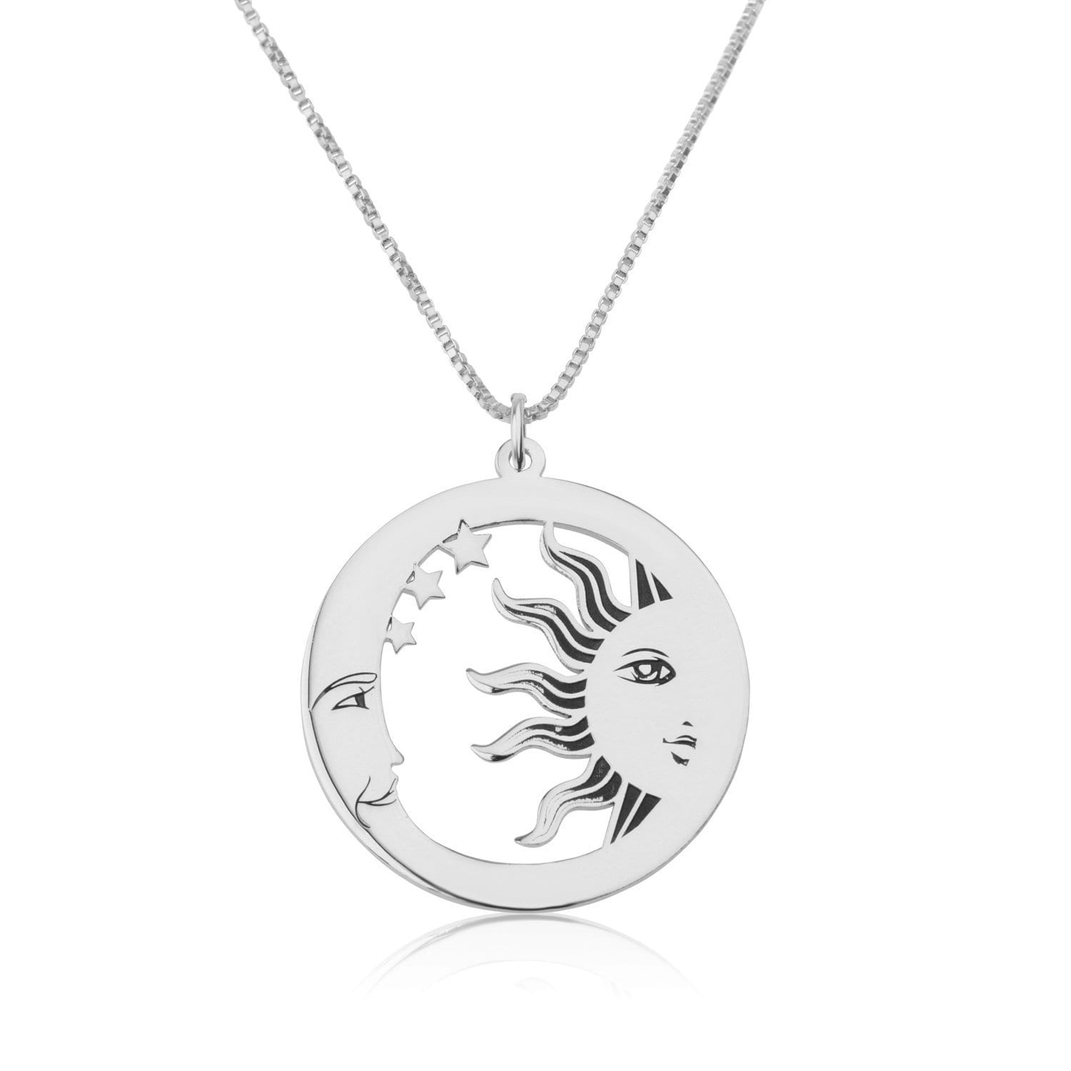 Sun And Moon Necklace - Beleco Jewelry