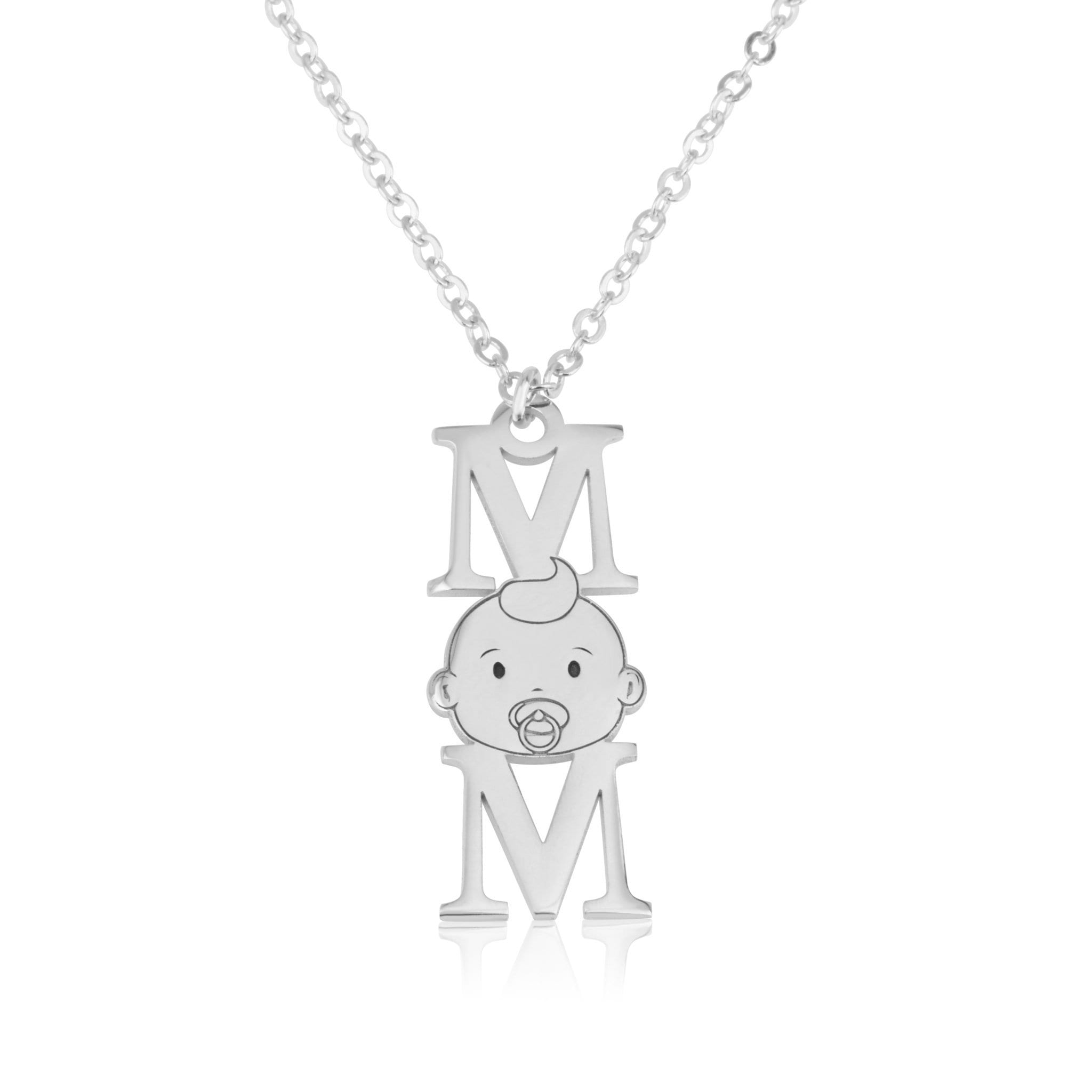 Vertical MOM Necklace - Beleco Jewelry