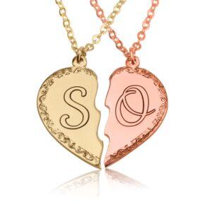 שרשרת לב חצוי - מתנה לזוג אוהבים